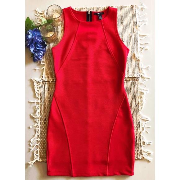 Forever 21 Dresses & Skirts | Red Body Con Cocktail Dress | Poshmark